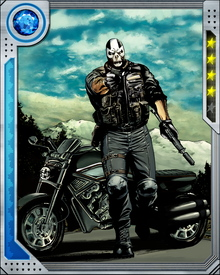 Even after he lost his Terrigen Mist-given powers, Crossbones retained his unparalleled hand-to-hand and weapon abilities. He keeps a mercenary's independence, but continues to work for the Red Skull whenever the opportunity arises.