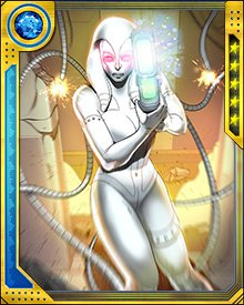 Jocasta can also manipulate computer systems and networks, as she did when the Fifty State Initiative came under attack from shapeshifting aliens. However, she is vulnerable to attacks from other mechanical intelligences.