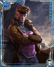 Transformed by Apocalypse into the Horseman of Death, Gambit felt like he owed Mr. Sinister a debt when Sinister freed him of the Horseman form. Because of this, he stayed with Sinister when a new mutant baby was born, and went looking for the baby on Sinister's behalf.