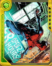 Peter Parker developed webbing and web shooters himself in order to web swing around the city and capture numerous criminals.