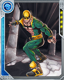 Iron Fist competed in a mystical Kung Fu tournament that occurs every 88 years. The contest determines which of the Seven Capital Cities of Heaven would appear on earth. During the tournament, Iron Fist met his six mystical counterparts. Lacking the focus of the other champions, Iron Fist lost the first round of the tournament.