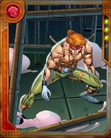 Raised to be a gladiator in the televised death matches popular under the dictatorship of Mojo V, Shatterstar escaped from that future into our present, where he began working with X-Force. He is believed to be the son of the X-Man Dazzler, although all of his family relationships are complicated by time travel and other manipulations.