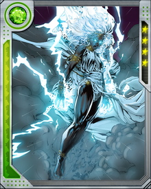 In addition to her control over weather, Storm has latent magical powers. Their extent is unknown, but she comes from a long matrilineal tradition of mystic powers.