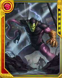 The first known Super-Skrull, Kl'rt, was one of his race's mightiest warriors, augmented to be able to assume the powers of multiple other individuals simultaneously. He took on the powers of all the Fantastic Four but failed in his first mission to eliminate them and pave the way for a Skrull invasion.
