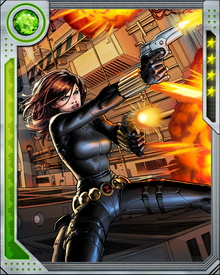 Among her many other skills—and demonstrating her excellent balance and coordinatio—Black Widow is a gifted ballerina. It comes in handy sometimes when she's dodging enemy fire.