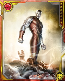 When in his organic steel form, Colossus is vulnerable to only two things. Enormous temperature swings from hot to cold damage the molecular structure of his steel form, and it has very little resistance to vibranium.