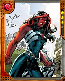 Red She-Hulk's gamma absorption powers can increase her strength to the point where she can literally punch holes in the barriers between dimensions. But that only happens when she's really, really mad. Usually she settles for punching holes in her opponents.