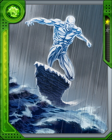 Iceman possesses the power to radically decrease the temperature of ambient water vapor in his immediate environment, thereby freezing it into ice. He is able to make unbreakable ice and ice shapes that will not break unless he wills it to.