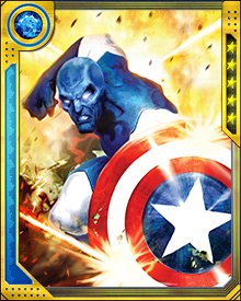 Major Victory is still learning the ins and outs of using Captain America's shield. Because he hasn't figured out the trick of making it return to him, he controls its flight path with his psychokinetic powers.