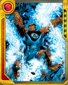 The Thing was a member of The Avengers for a brief period. He remains close to his former teammates and often brings Johnny Storm along to play poker with them.