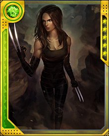 Like Wolverine's, X-23's claws are coated with adamantium. She does not have adamantium reinforcements in her bones, however, which means it is possible for her to strike hard enough to break her own bones. If that happens, she doesn't say much about it. Her healing factor kicks in, and she's off to her next target.