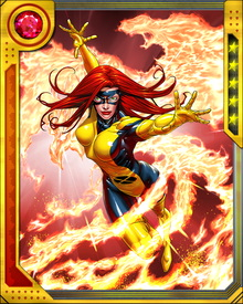 Her physical existence has been utterly transformed by the cosmic powers of the Phoenix Force.