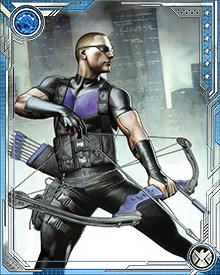 Hawkeye can be standoffish in person. He's self-conscious about being the only Avenger without some kind of superpower—or at least that's how he sees it. His closest relationship on the team is with Black Widow, because they see themselves as having much in common. They don't have suits, or divine hammers...they've just got their smarts and training and will.