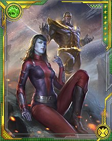 Thanos and Nebula were both embroiled in the battle over the Infinity Gauntlet, a battle of cosmic proportions involving Eternity itself.