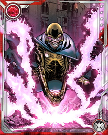 As MODOK, George Tarleton has psionic powers enabling him to mentally control both individuals and large groups, and generate force fields able to withstand minor nuclear explosions.