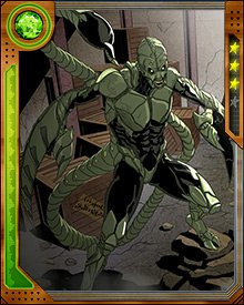 For some time, Mac Gargan was a host to the Venom symbiote, until he was purged of it after the Siege of Asgard. He then accepted Alistair Smythe's offer of a new Scorpion suit that would stabilize his health, which had suffered from the separation from the symbiote.