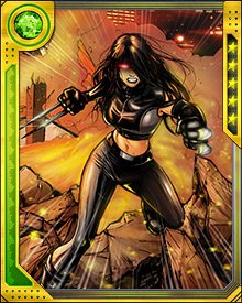 Looking for a fresh start, X-23 joined the Avengers Academy and tried to develop her social awareness. She made some friends but her stay with the Avengers Academy was cut short when she was one of the young Avengers students taken by Arcade to his new Murderworld.