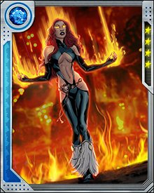 Satana has worked as part of a number of hero and villain teams. She has served in the Hood's band of outlaws. Pursuing more heroic endeavors, she has also worked with the Heroes For Hire and the Thunderbolts.