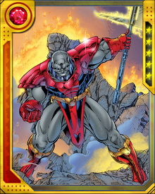 Terrax was formerly the ruler of the planet Birj, partially due to his power to control and move earth and stone. Galactus increased that power to a near-planetary scale.