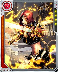 Typhoid Mary has a number of limited psionic powers, the most dangerous of which is pyrokinesis. She has also been trained in the use of swords and other bladed weapons, and has in the past been very much in demand as an assassin.