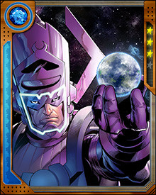 Requiring the energies from the core of a planet to sate his hunger, Galactus travels throughout all known space devouring worlds. Yet he finds himself frequently returning to Earth to attempt to feed on the energies of this particular planet.