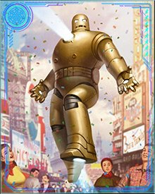 Stark knew he had to redesign his suit to avoid scaring the public, but it was one of his (many) dates Marion who put forth the idea of a modern knight in shining gold armor. How could Stark refuse a lady?