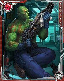 Having been re-engineered and reborn with the express purpose of fighting Thanos, Drax has spent his new life trying to kill the unkillable. Death herself has forbidden Thanos from ever entering her realm, but that hasn't stopped Drax from trying.