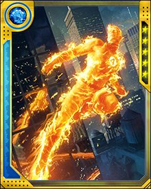 Approached by former high school classmate Mike Snow, now a fireman, to help investigate a bizarre case of spontaneous combustion, Johnny Storm agreed and used his fire-controlling abilities to great effect.