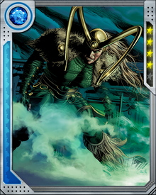 Loki's most powerful weapon is his ability to turn people against each other. His powers of illusion are potent enough even to beguile his fellow immortals.