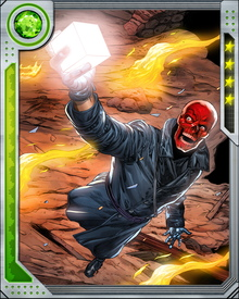 The Red Skull's possession of the Cosmic Cube permits him to tap into its practically limitless powers. He also uses it to augment various vehicles and doomsday devices—although it also makes him a target for other dangerous villains, who want it for themselves.