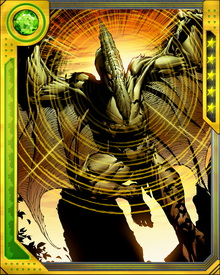 Lykos' persona is overtaken by the stronger, more ruthless Sauron when his shape transforms. As Sauron he has attempted to take over the Savage Lands using his hypnotic stare. Time spent in the Weapon X program gives him control over the energies he absorbs from others.