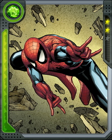 Bitten by a radioactive spider, student Peter Parker gained the power of a spider and became Spider-Man.