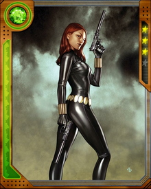 Black Widow is a moniker for all spies trained by the KGB. Natasha Romonova was just one of them.  She later defected from the KGB and fled to the United States.  She was recruited by S.H.I.E.L.D. as a spy and assassin.