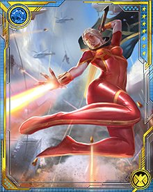 """Savior"" or not, it was actually Phyla-Vell who dealt the killing blow to Ultron. The cosmic energy of the Quantum Bands, combined with the fallen souls of Hala channeled by Adam Warlock, gave her Quantum Sword exceptional power."