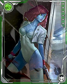 "During the Red Skull's onslaught, Mystique was one of many villains who were stuck by an ""inversion wave"" that caused her to see the error of her villainous ways."