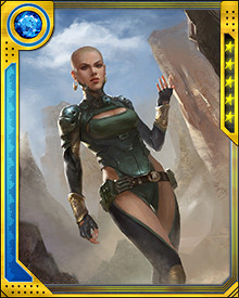 Moondragon was trained on the planet Titan by the monks of Shao-Lom. They trained her to wield tremendous telepathic and telekinetic powers.  Her psionic talents allow her to do everything from mind control to flight to creating shields to firing concussive blasts.