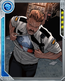"During the so called Civil War, Steve Rogers opposed the new mandatory federal registration of super-powered beings, and led the underground anti-registration movement. He adopted the alias of mall security guard ""Brett Hendrick."""
