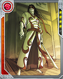 Tomi Shishido, the Gorgon, is a crime lord and mutant with terrible and frightening powers. With a glance, he can turn a victim to stone. He wears sunglasses at all times to avoid inadvertently petrifying someone. Even without this incredible ability, the Gorgon is a superhumanly fast and strong martial artist with an accelerated healing factor.