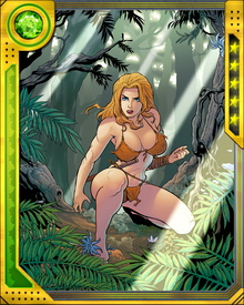 After her resurrection using Man-Thing blood, Shanna is now bound to the Savage Land. She cannot be killed as long as it exists, and she now knows all of the languages spoken by the Savage Land's dwellers... possibly even the dinosaurs.