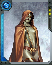 The Sole survivor of Thanos' destruction of the Zen-Whobari race, Gamora was brainwashed by Thanos and sent to assassinate the Magus. After she rebelled against Thanos, he killed her, but she was brought back to life by Adam Warlock.