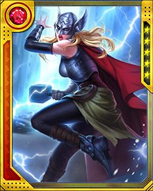 Jane Foster's first outing as Thor brought her to the airborne headquarters of Roxxon Corporation, where Malekith and an army of Frost Giants were searching for the skull of Laufey.