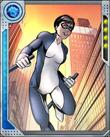 Finesse is a super-polymath, able to learn anything with incredible speed and retain what she has learned with near perfection. This includes information and physical skills. Her training at the Avengers Academy has honed her fighting skills and made her the equal of her young colleagues in a fight.