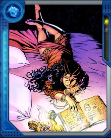 Found and adopted in an Indian prison camp by the wizard Taboo, the young girl known only as Topaz became his protege. She fought to escape his influence and eventually met Dr. Strange, who witnessed the full blossoming of her powers.