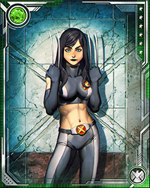 Raised in an experimental Weapon X environment, Laura Kinney did not even know her name until her mother's dying moments. She carries the scars of killing her mother in a trigger-scent frenzy to this day.