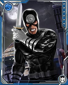Bullseye was Norman Osborn's pick to replace Hawkeye in H.A.M.M.E.R.'s Dark Avengers. Osborn also chose him to carry out the murder of the Sentry's wife Linda, to render the sentry psychologically vulnerable and put him under Osborn's control.