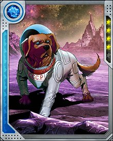 Cosmo is loyal to those he thinks are innocent, even if other people don't. This occasionally gets him in trouble. When he protected a group of persecuted Skrulls aboard Knowhere, it caused some problems with the Guardians of the Galaxy. It was only resolved when Cosmo telepathically made them understand what he was doing.