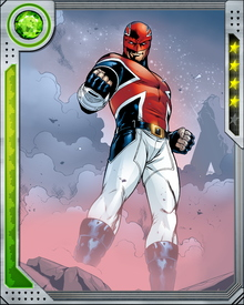 A dying Brian Braddock became Captain Britain after choosing the Amulet of Right (or Life) over the Sword of Might (or Death) when both were presented to him by Merlin and his daughter Roma.