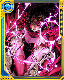 When she returned to herself and achieved full control over her powers, the Scarlet Witch again became one of the most powerful heroes on Earth, leading the battles against the Phoenix Force, the Apocalypse Twins, and Red Onslaught.