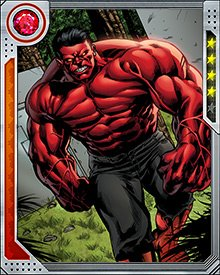 Red Hulk gives off huge amounts of heat and radiation as he gets angrier. This makes him harder to fight, but eventually the amount of stored heat weakens him because he has no physiological way to cool off.