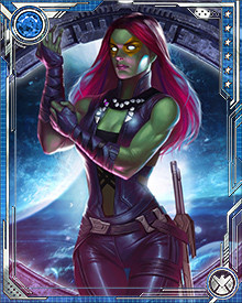 During the Infinity Crusade, Gamora was temporarily mind controlled by the Goddess who sought to eradicate evil from the universe. During this time, Gamora found herself at odds with many of the heroes of Earth. Her mind was freed shortly before the defeat of the Goddess.
